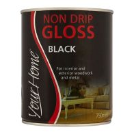 See more information about the Your Home Non Drip Gloss Paint 750ml - Black