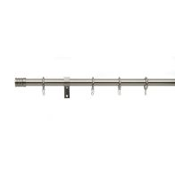 See more information about the Universal Satin Steel Curtain Pole With Barrel Finials 16/19mm 120