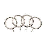 See more information about the Universal 19mm Satin Steel Metal Curtain Rings 4 Pack