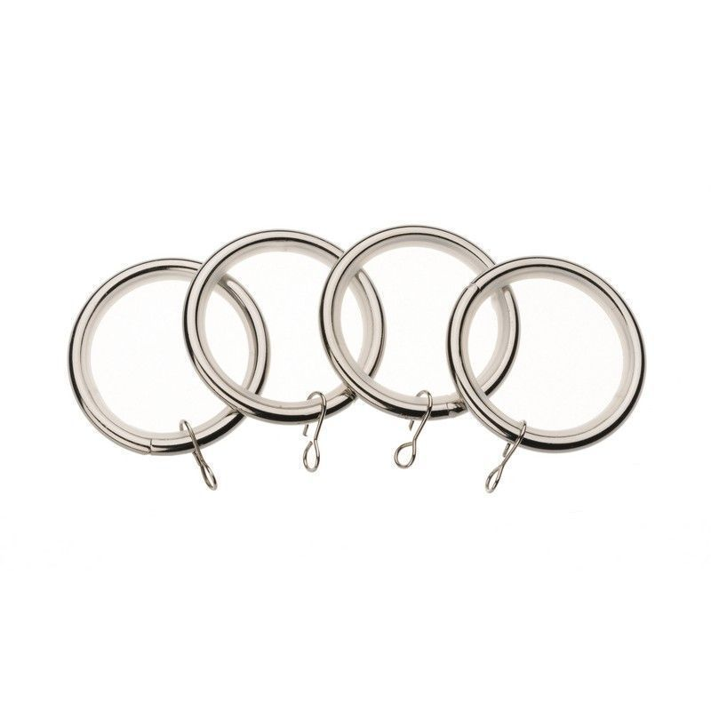 Universal 19mm Satin Steel Metal Curtain Rings 4 Pack