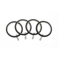 See more information about the Universal 19mm Black Metal Curtain Rings 4 Pack