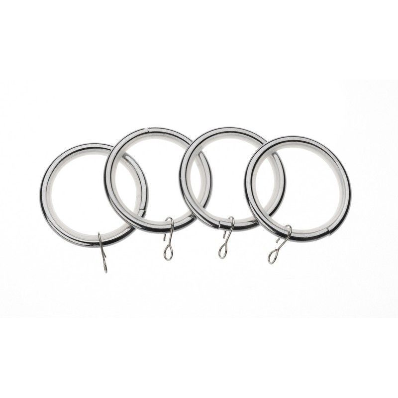 Universal 28mm Chrome Metal Rings Pack 4