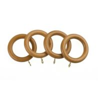 See more information about the Universal 28mm Antique Pine Wood Curtain Rings 4 Pack