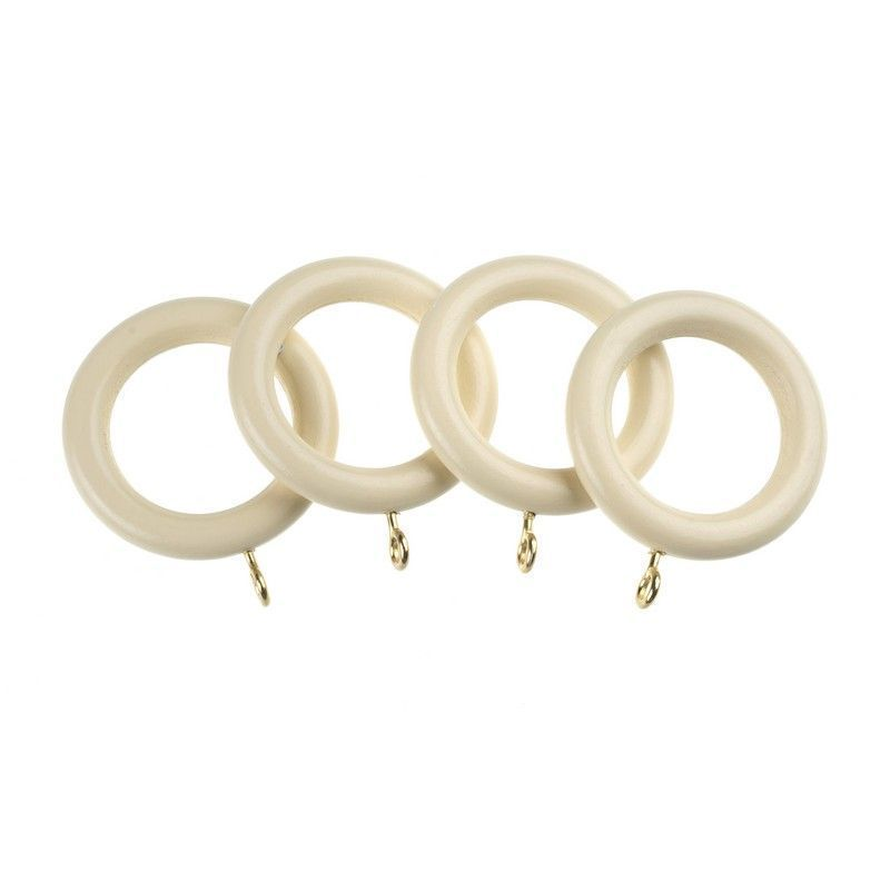 Universal 28mm Cream Curtain Rings 4 Pack