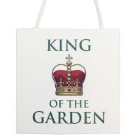 See more information about the King of the Garden Plaque