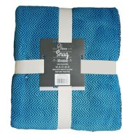 See more information about the Your Home 120 x 150cm Sherpa Chevron Blue & Black Throw