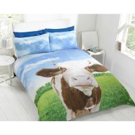See more information about the Cow Photo Single Duvet Set