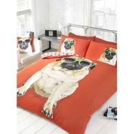 See more information about the Red Percy Pug Single Duvet Set