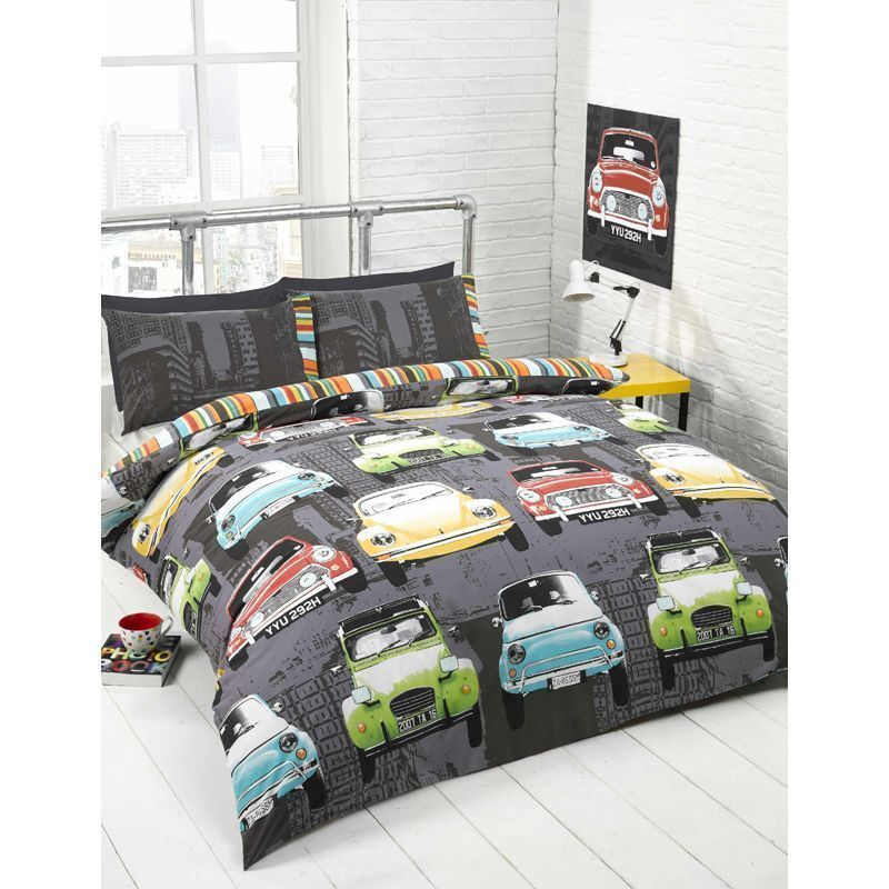 Retro Cars Double Duvet Set