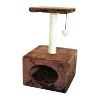 See more information about the Cat Home & Scratcher With Ball 53cm