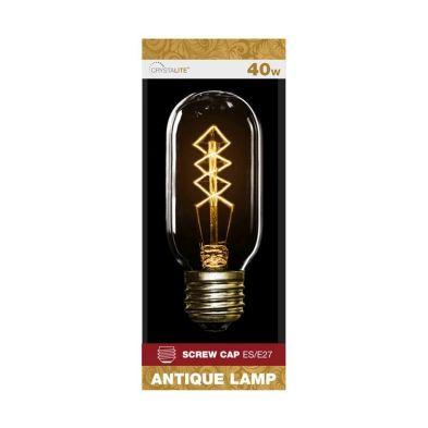 40w Screw Cap Antique Lamp Bulb (Diamond Filament)