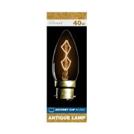 See more information about the Crystalite 40w Bayonet Cap Antique Lamp Bulb (Z Shape Filament)