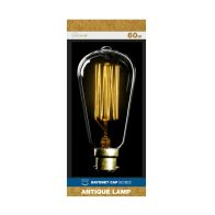 See more information about the 60w Bayonet Cap Antique Lamp Bulb (Squirrel Cage Filament)