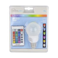 See more information about the 3w Colour Changing LED GLS Lightbulb with Remote (BC/B22)