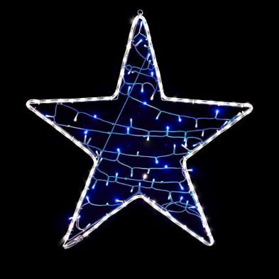 80 LED Blue Star String Lights
