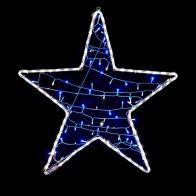 See more information about the White Rope Light Star With A String Of 80 LED Blue Lights