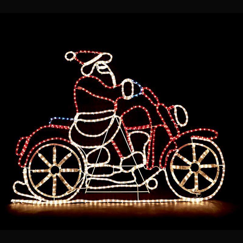 Santa Motorbike Christmas Rope Lights Buy Online At Qd