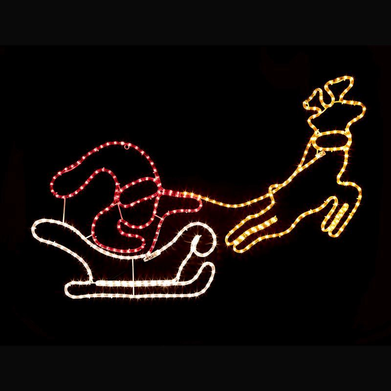 Santa sleigh and reindeer christmas rope lights buy online at qd santa sleigh and reindeer christmas rope lights aloadofball Choice Image