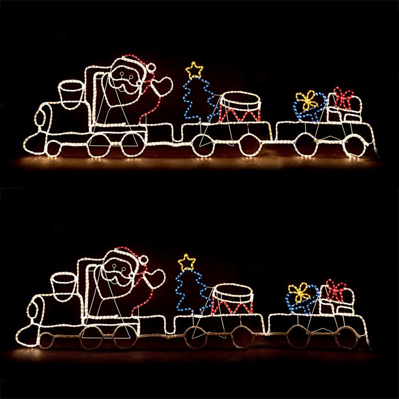Santa Train Christmas Light
