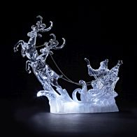 See more information about the Acrylic Santa With Reindeer Sleigh