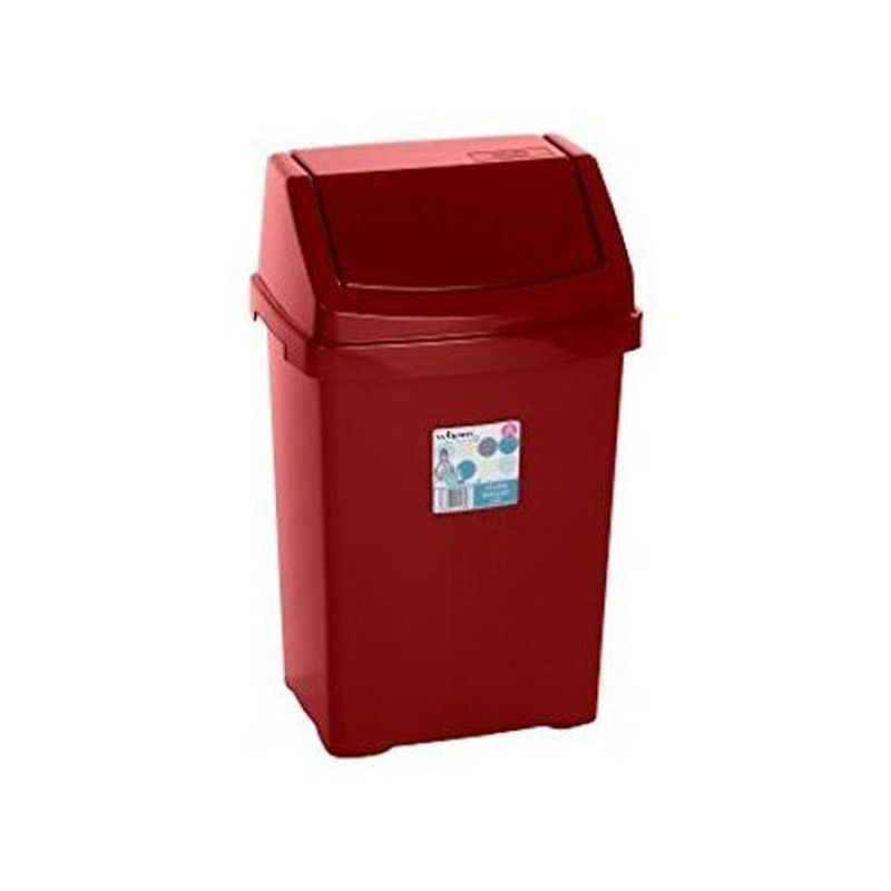 15L Case Chilli Red Swing Bin