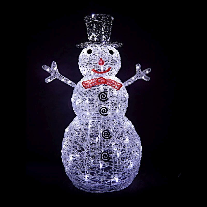 Acrylic led snowman garden decoration buy online at qd for Acrylic decoration