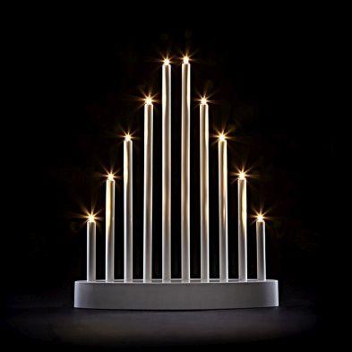 Plastic Tube Candle Bridge Warm White LED Lights (10b)