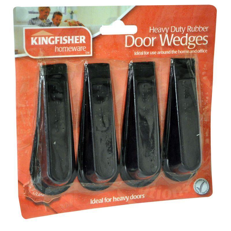 Kingfisher rubber door stop wedges 4 pack buy online at qd stores - Door stoppers rubber ...