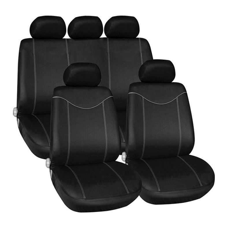 Streetwize 11 Piece Black Seat Cover Set With Grey Stitching