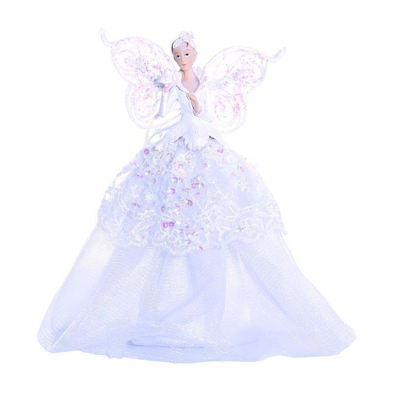23cm Angel Tree Topper In White Buy Online At Qd Stores
