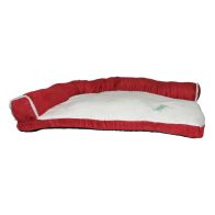 See more information about the Happy Pet Suede Effect Corner Pet Bed - Red