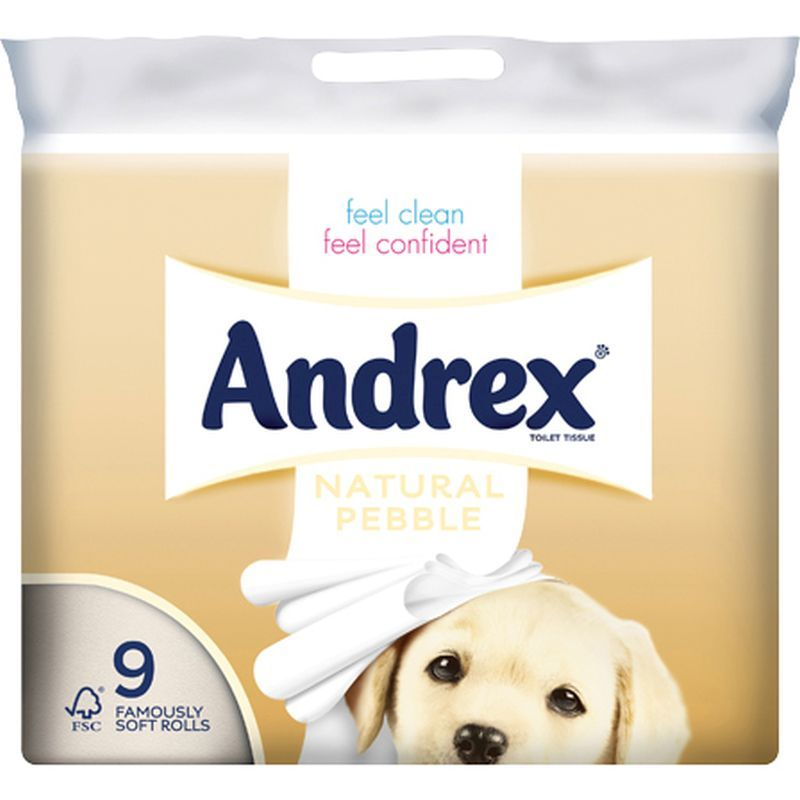 Andrex 9 Roll Natural