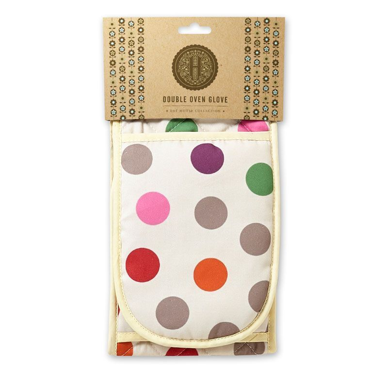 Polka Dot Double Oven Glove