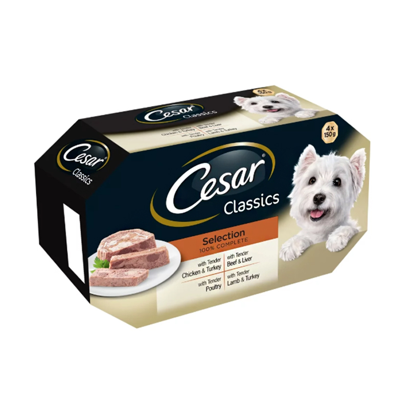 Cesar Classics Selection Dog Food Trays 4 Pack