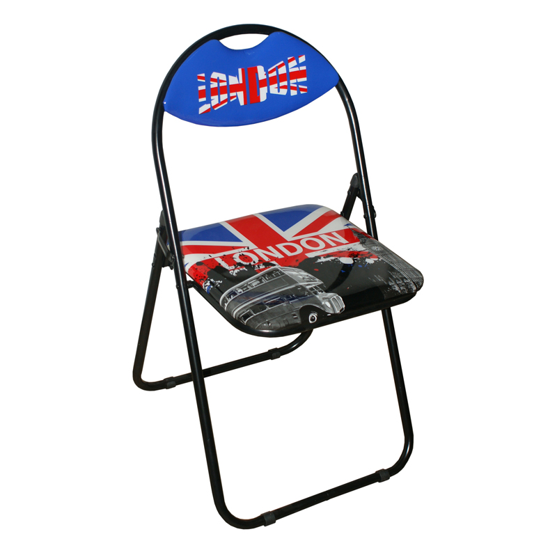 Printed Folding Chair - London Design
