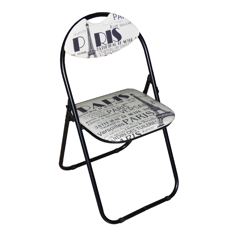 See more information about the Printed Folding Chair - Paris Design