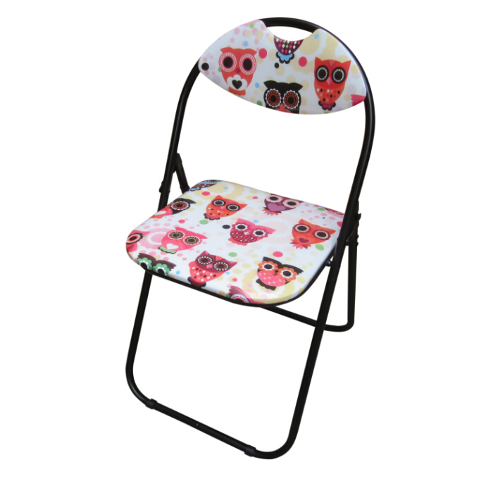Printed Folding Chair - Owl Design