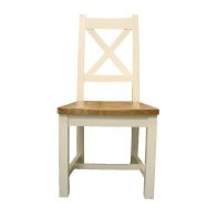 See more information about the Oak Dining Chair - Cream