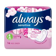 See more information about the Always Sensitive Normal Sanitary Towels 16 Pack