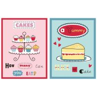 See more information about the Cakes Velour Cotton Tea Towels 2 Pack