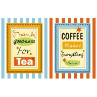 See more information about the Cooksmart Stripe Tea & Coffee Cotton Tea Towels 2 Pack