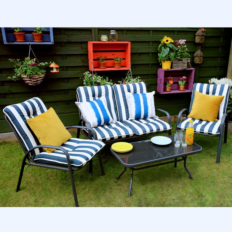 4 Piece Patio Set Garden Furniture Marbury