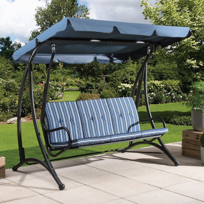 Fraser 3 Seater Garden Swing Chair, Swinging Chairs Outdoor