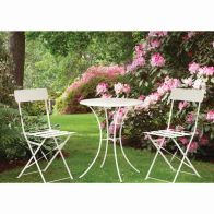 See more information about the Primrose Folding Metal Bistro Set (Cream)