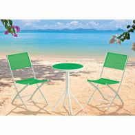 See more information about the Fiji Folding Textilene Bistro Garden (Green)