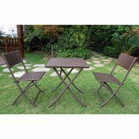 See more information about the Danbury 3 Piece Folding Rattan Set  Garden Furniture