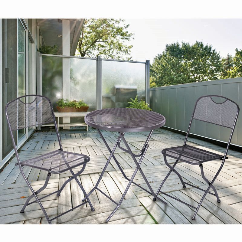 Buy bistro set denford 3 piece garden furniture online for Garden furniture set deals