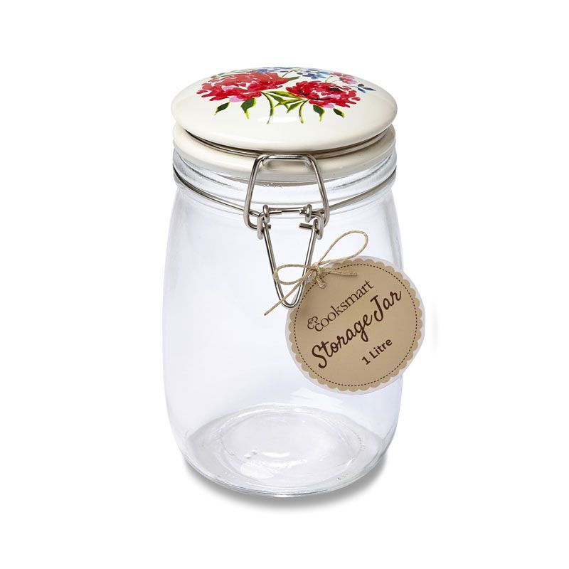 Storage Jar Floral 1.0 Ltr