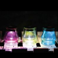 See more information about the Bright Garden Hanging Jar Solar Light - Pink