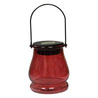 See more information about the Bright Garden Hanging Jar Solar Light - Red
